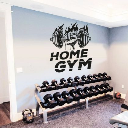 Fitness Home gym Wall Sticker Decal Art Bedroom Vinyl Wall Decals