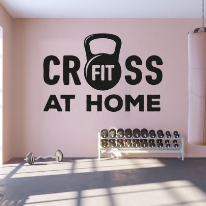 Cross Fit Fitness Home gym man cave boys girls Room Wall Sticker Decal Art Bedroom Vinyl Wall Decals
