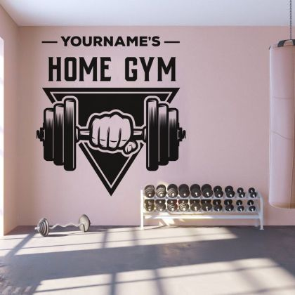 Custom Name Fitness Home gym Wall Sticker Decal Art Bedroom Vinyl Wall Decals