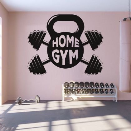 Home gym man cave boys girls Room Wall Sticker Decal Art Bedroom Vinyl Wall Decals