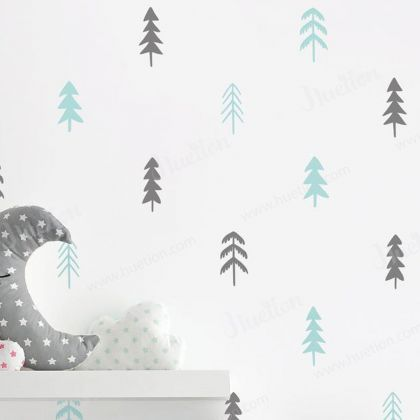Set of 60 Tree wall decal for Woodland Nursery Decor