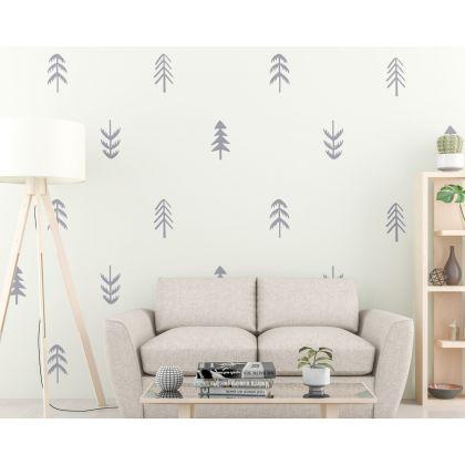 Set of 60 Tree wall decal for Woodland Nursery Decor