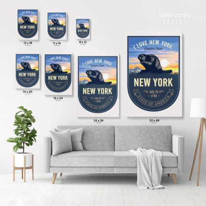 New York State of America Emblem Canvas Wall Artwork For Mural Canvas Wall Hanging