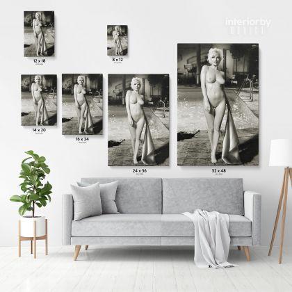 Marilyn Monroe Naked Canvas USA Model Wall Artwork Hangings