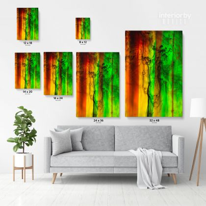 Abstract Canvas Acrylic Colors And Ink In Water Wall Art Canvas with Frame Poster Print Home Decor Living Dining Modern Wall Hangings Gift