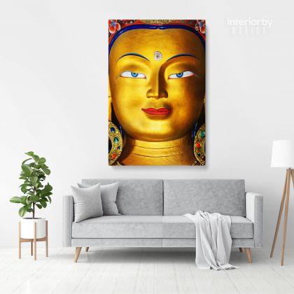 Eye of Lord Maitreya Buddha Modern Wall Art Canvas with Frame Poster Print Living Room Dining Modern Wall Hanging Mural Art Gift