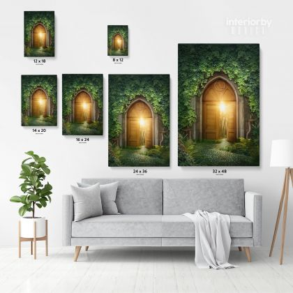 Magic Door Mystic Fairy of Life Enchanted Lights Posters Print Canvas with Frame /Rolled Canvas Home Decor Wall Hangings Wall Art Mural Gift