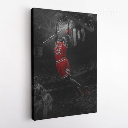 Michael Jordan Basketball Canvas with Frame or Rolled Sports Canvas