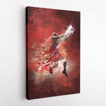 Michael Jordan Basketball Canvas with Framed Canvas