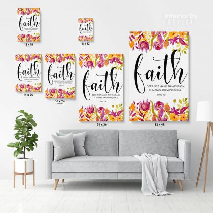 Bible Verse Canvas Office Home Decor Scripture Quote Holy Bible Print Ready to Hang Canvas