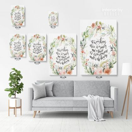 Bible Verse Canvas Office Home Decor Scripture Wall Art Decals Quote Holy Bible Print Ready to Hang Christmas Gift