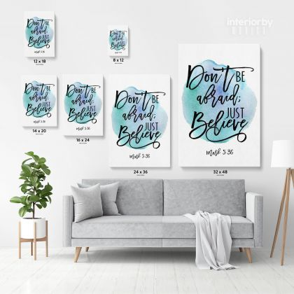 Holy Bible Verse Art Canvas Office Home Decor Scripture Decals Quotes Print Ready to Hang Wall Hangings Bible Verse