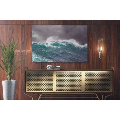 Large Waves in Ocean Wall Art Photo Poster Print Canvas with Frame Print Poster Home Decoration Living Room Bedroom Mural Gift Wall Hangings