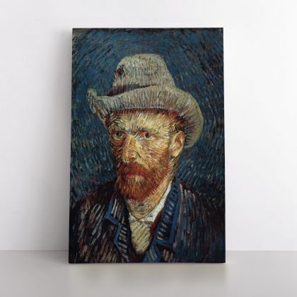 Vincent Van Gogh Painting Self-Portrait With Felt Hat Abstract PaintingWall Art Mural Canvas