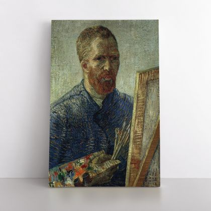 Vincent Van Gogh Painting Self-Portrait As An Artist Abstract Painting Photo Print on Canvas