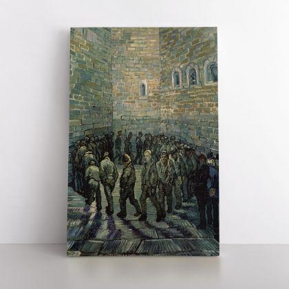 Vincent Van Gogh Painting Prisoners Exercising Photo Print on Canvas