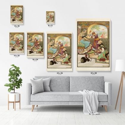 Original Art Painting Wall Artwork in Canvas with Frame, Painting model Photo Poster Print in Canvas