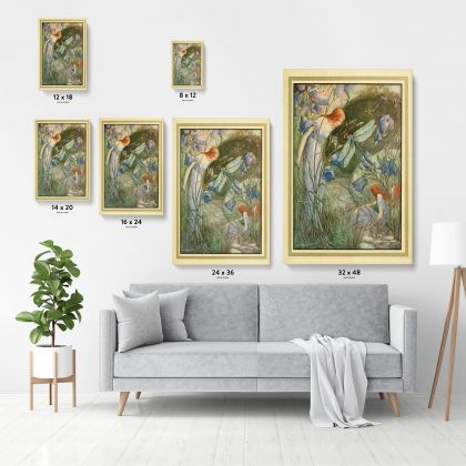 Vintage Fairy Original Painting in Canvas with Frame Wall Artwork model Painting Photo Poster Print Canvas
