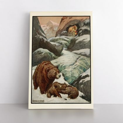 Frank C Pape Fairy Tale Book Original Art Painting Photo Print in Canvas