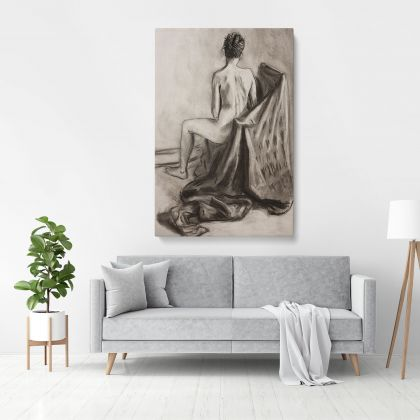 Original Art Model Painting by Famous Owen Claxton Photo Print on Canvas Home Decoration Wall Mural Hangings Gift