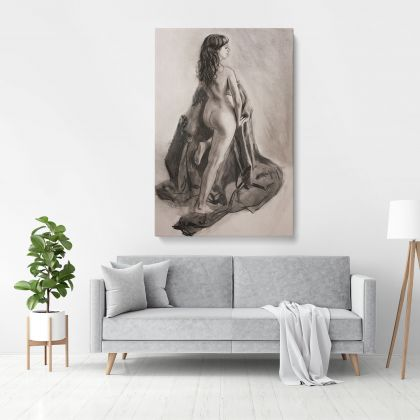 Women's Erotica Painting by Famous Owen Claxton Photo Print on Canvas Art Home Decoration Wall Mural Gift