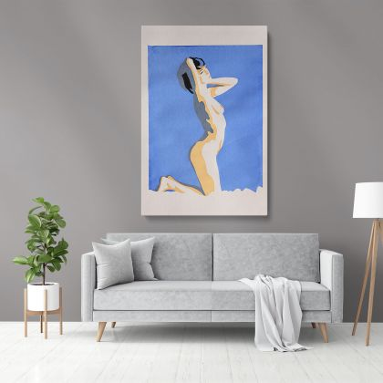 Naked Women Painting by Famous Owen Claxton Photo Print on Canvas Home Decoration Wall Mural Hangings Gift