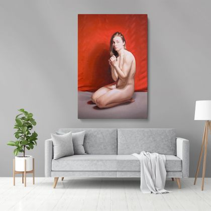 Naked Women Painting by Famous Owen Claxton Photo Print on Canvas Nude Wall Mural Hangings Gift