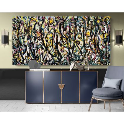 Abstract Expressionism Jackson Pollock Painting Photo Print on Canvas Home Decor Bedroom Wall Posters