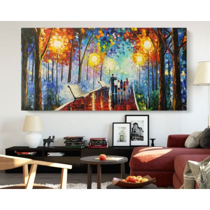 Famous Palette Knife Oil Painting by Leonid Afremov Photo Print on Canvas with Frame Home Decor Wall Mural