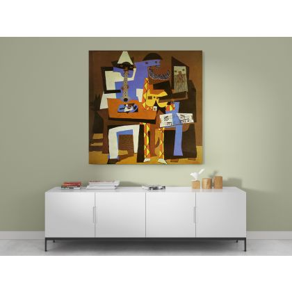 Pablo Picasso Three Musicians Painting Modernism Artistic Photo Print on Canvas Home Decor Wall Posters