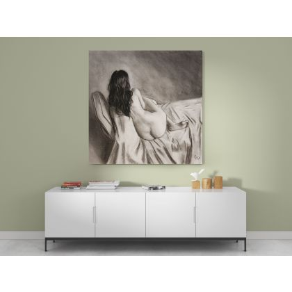 Naked Girl Artworks by Owen Claxton Photo Print on Canvas Fine Artist Painter Home Decor Wall Mural Painting