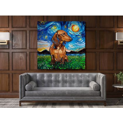 Vincent Van Gogh Starry Night Dogs Original Painting Canvas Photo Print Wall Mural Home Decor Gift