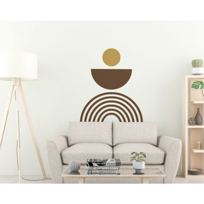 Semi Circle with Circle & arch Wall Decal Boho Abstract Wall Decor