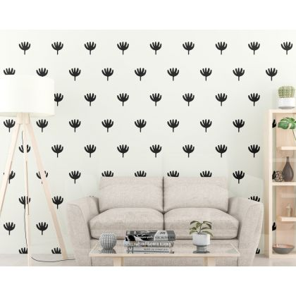 Set of 72 Flower wall Decal Flower Boho Wall Stickers