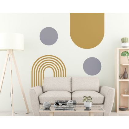 Abstract Boho Wall Stickers Circle & Arch Wall Decal