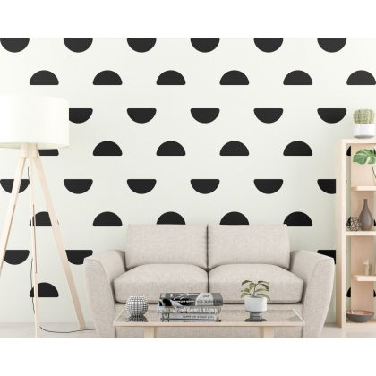 Half Circle Wall Decal Pattern Wall Sticker Boho Wall Decor