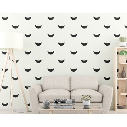 Cresent Wall Decal Pattern Wall Sticker Boho Wall Decor
