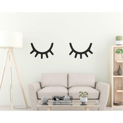Custom Colour Sleepy Eyes wall Decal Eyelashes Wall Sticker