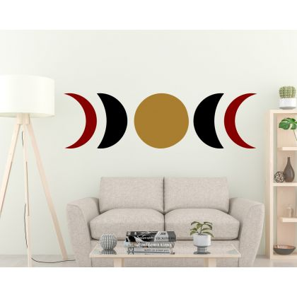 3 Colour Boho Circle with Half Circles Wall Decals Nursery Decor