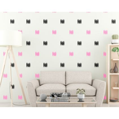 Abstract Boho Wall Stickers Set of 80 Lines wall Decal