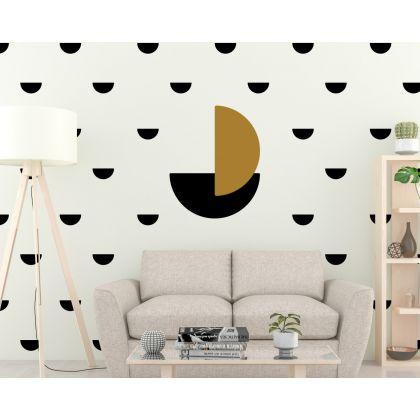 Set of 34 small Half Circle & 2 Big Half Circles Geometric Pattern Wall Decals