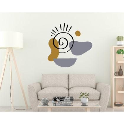 2 Colour Boho Abstract Shapes Wall Decals Removable Wall Decor