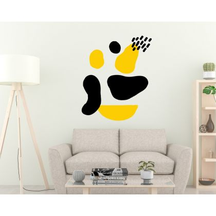 Boho Abstract Shapes Wall Stickers Scandinavian Wall Decor