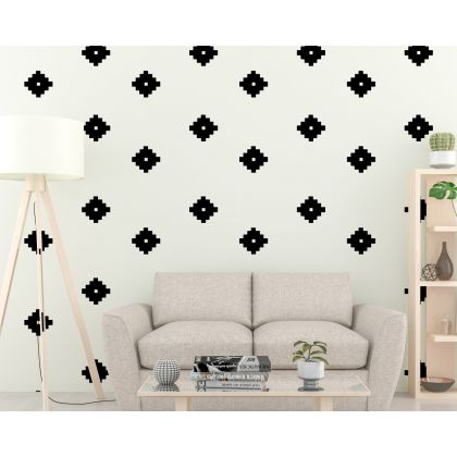 Set of 75 Boho Geometric Shapes Wall Decals Home Decor