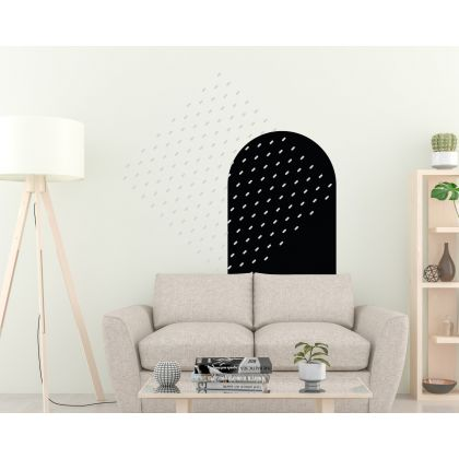 Long Polka Dots Pattern Geometric Wall Decals Arch Wall Art
