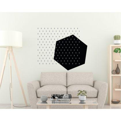 Pattern Wall Decals Long Polka Dots Triangle Wall Art Geometric Wall Art