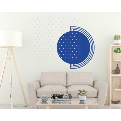 Long Polka Dots Geometric Pattern Wall Decals Circle Wall Art