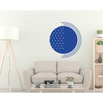 Geometric Long Polka Dots Pattern Wall Decals Circle Wall Art