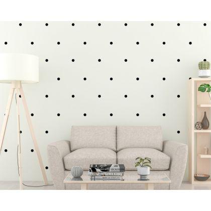 Polka Dots Pattern Geometric Wall Stickers Nursery Decor