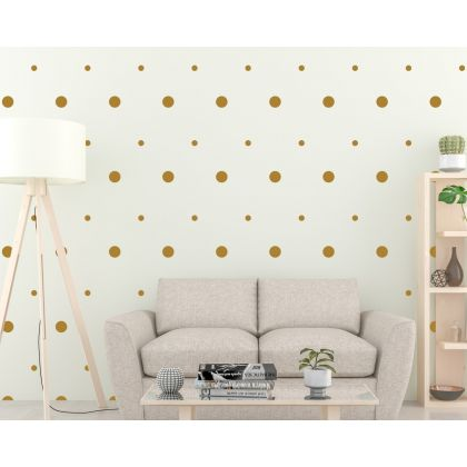 Mixed Size Polka Dots Geometric Pattern Wall Decals